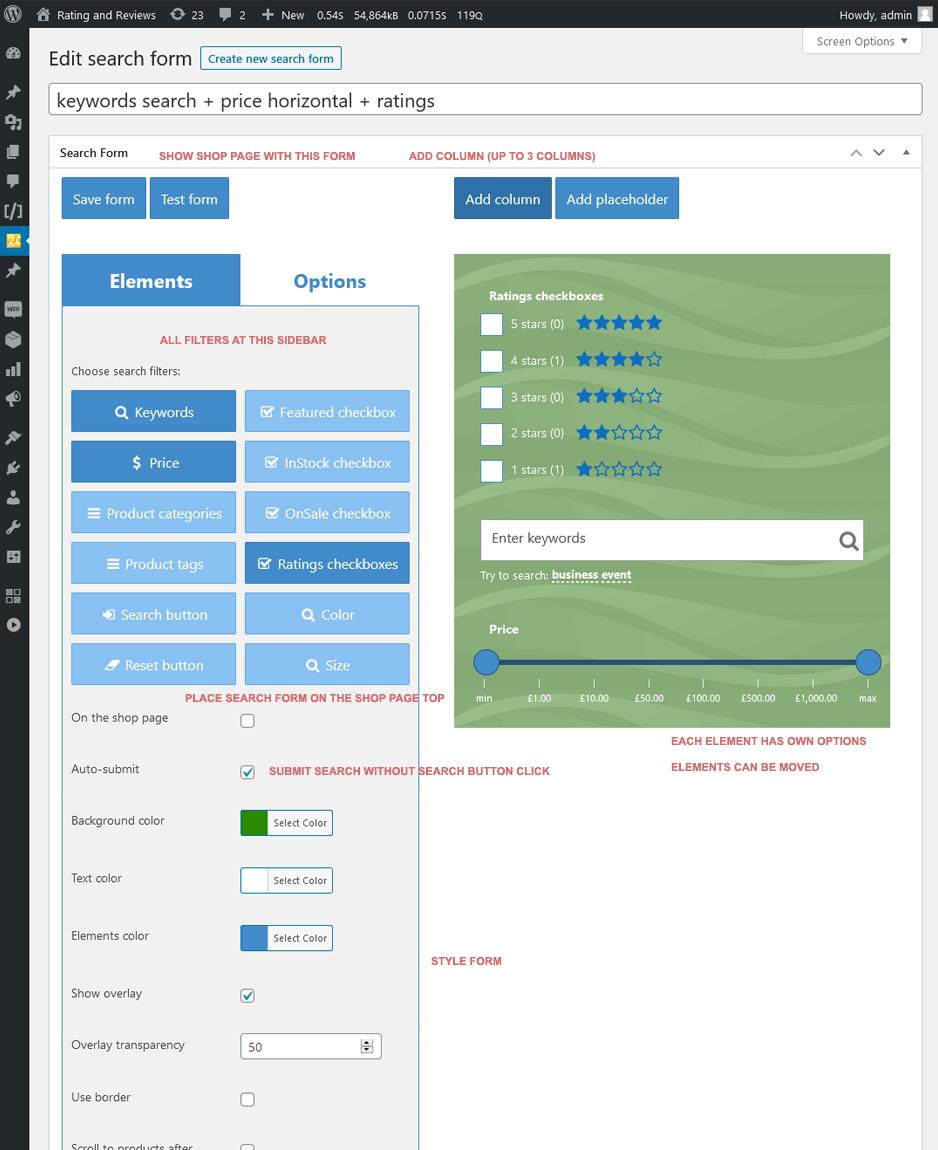 Plug-in WooCommerce Search & Filter para WordPress - 6