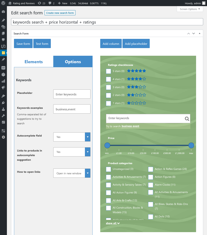 Plug-in WooCommerce Search & Filter para WordPress - 8