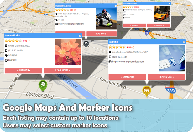 Web 20 directory plugin for wordpress by shamalli codecanyon google maps and marker icons pronofoot35fo Gallery